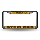 Pittsburgh Steelers  BLACK LASER Chrome Frame