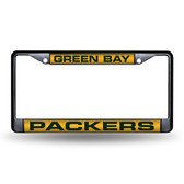 Green Bay Packers  BLACK LASER Chrome Frame