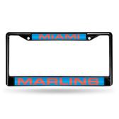 Miami Marlins BLACK LASER Chrome Frame