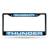 Oklahoma City Oklahoma City Thunder BLACK LASER Chrome Frame