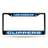 Los Angeles Clippers BLACK LASER Chrome Frame