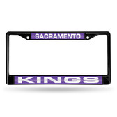 Sacramento Kings BLACK LASER Chrome Frame