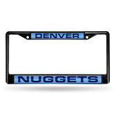 Denver Nuggets BLACK LASER Chrome Frame