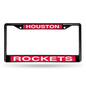 Houston Rockets BLACK LASER Chrome Frame