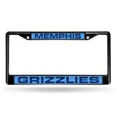 Memphis Grizzlies BLACK LASER Chrome Frame