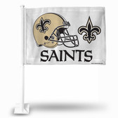 New Orleans Saints (WHITE) HELMET Car Flag