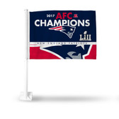 New England Patriots 2018 AFC CHAMP Car Flag