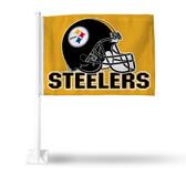 Pittsburgh Steelers (GOLD) HELMET Car Flag