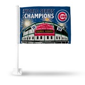 Chicago Cubs 2016 MLB WORLD SERIES CHAMPIONS COMMEMORATIVE Car Flag