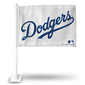 Los Angeles Dodgers (WHITE) Car Flag