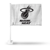 Miami Heat Car Flag (BLACK LOGO ON WHITE)