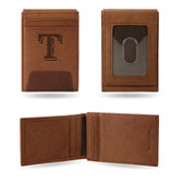 Texas Rangers - TX Premium Leather Front Pocket Wallet