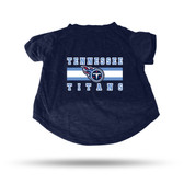 Tennessee Titans NAVY PET T-SHIRT - SMALL
