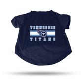 Tennessee Titans NAVY PET T-SHIRT - XL