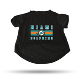 Miami Dolphins BLACK PET T-SHIRT - SMALL