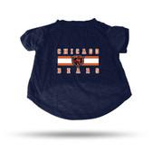 Chicago Bears NAVY PET T-SHIRT - SMALL