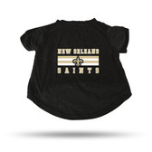 New Orleans Saints BLACK PET T-SHIRT - LARGE