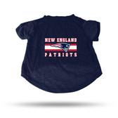 New England Patriots NAVY PET T-SHIRT - LARGE