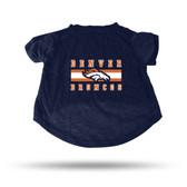 Denver Broncos NAVY PET T-SHIRT - SMALL