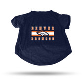 Denver Broncos NAVY PET T-SHIRT - XL