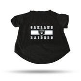 Oakland Raiders BLACK PET T-SHIRT - LARGE