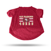 San Francisco 49ers RED PET T-SHIRT - SMALL