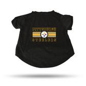 Pittsburgh Steelers BLACK PET T-SHIRT - LARGE