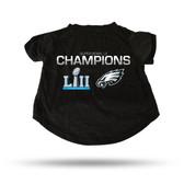 Philadelphia Eagles 2018 SUPER BOWL LII CHAMPIONS PET T-SHIRT - EXTRA LARGE