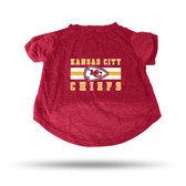 Kansas City Chiefs RED PET T-SHIRT - SMALL