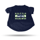 Seattle Seahawks NAVY PET T-SHIRT - MEDIUM