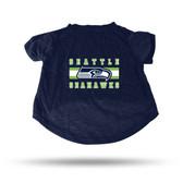 Seattle Seahawks NAVY PET T-SHIRT - SMALL