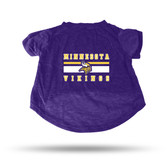Minnesota Vikings PURPLE PET T-SHIRT - SMALL