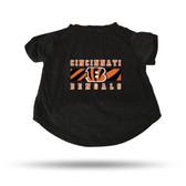 Cincinnati Bengals BLACK PET T-SHIRT - LARGE