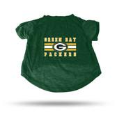 Green Bay Packers GREEN PET T-SHIRT - SMALL