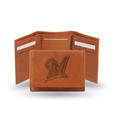 """Milwaukee Brewers """"M"""" LOGO Embossed Trifold"""