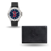 Boston Red Sox MENS Black Watch and Wallet