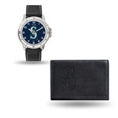 Seattle Mariners MENS Black Watch and Wallet