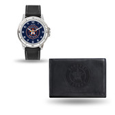 Houston Astros MENS Black Watch and Wallet