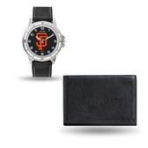 San Francisco Giants MENS Black Watch and Wallet