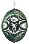 Baylor Bears Circle Swirly Metal Wind Spinner