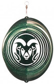 Colorado State Rams Circle Swirly Metal Wind Spinner