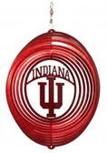 Indiana Hoosiers Circle Swirly Metal Wind Spinner