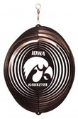 Iowa Hawkeyes Circle Swirly Metal Wind Spinner
