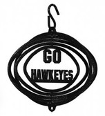 Iowa Hawkeyes Tini Swirly Metal Wind Spinner