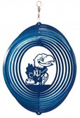 Kansas Jayhawks Circle Swirly Metal Wind Spinner