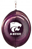 Kansas State Wildcats Circle Swirly Metal Wind Spinner