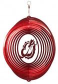 MSUM Dragons Circle Swirly Metal Wind Spinner