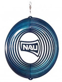 Northern Arizona Lumberjacks Circle Swirly Metal Wind Spinner