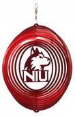 Northern Illinois Huskies  Circle Swirly Metal Wind Spinner