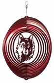 Northern State Wolves Circle Swirly Metal Wind Spinner